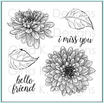 Hello Friend, Gina K Designs Clear Stamps - 609015546642