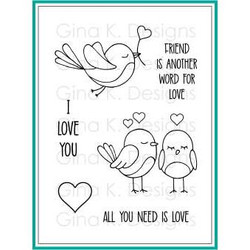 All You Need Is Love, Gina K Designs Clear Stamps - 609015542767