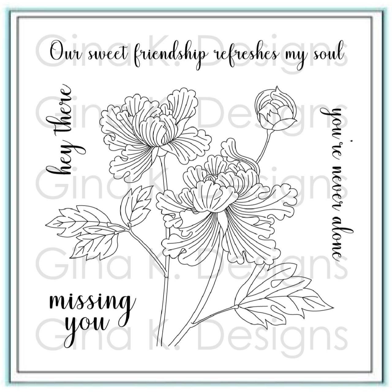 Sweet Friendship, Gina K Designs Clear Stamps - 609015542781