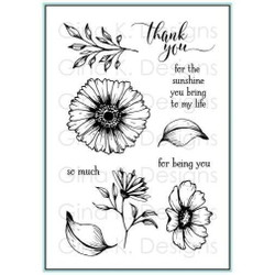 Vibrant Blooms, Gina K Designs Clear Stamps - 609015542392