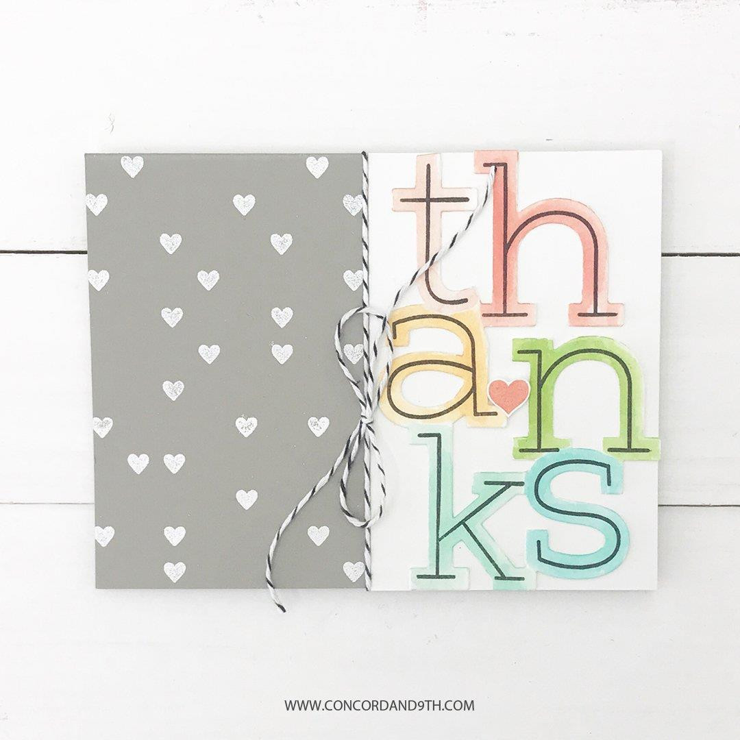 Big Thanks, Concord & 9th Clear Stamps - 090222400146