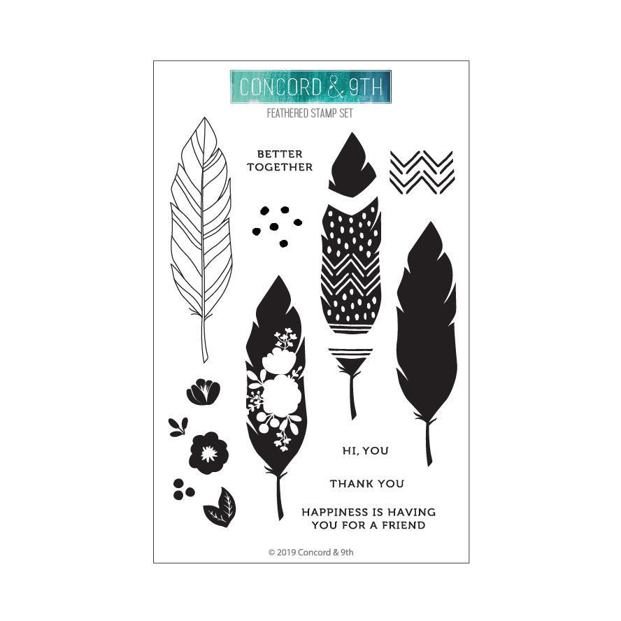 Feathered, Concord & 9th Clear Stamps - 090222400108