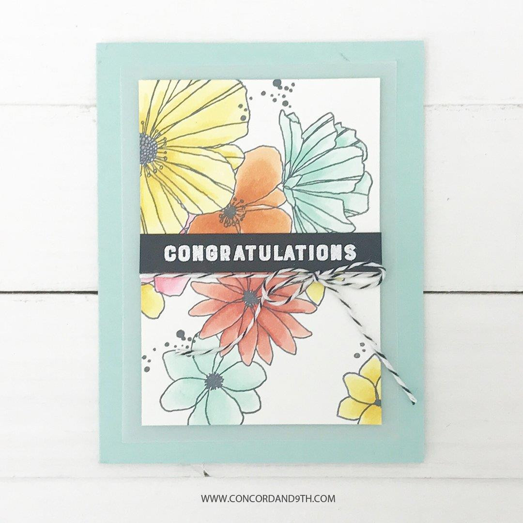 Fine Line Florals, Concord & 9th Clear Stamps - 090222400122