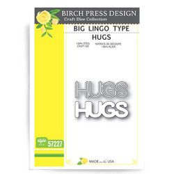 Big Lingo Type Hugs, Birch Press Design Dies -