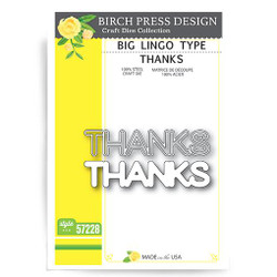 Big Lingo Type Thanks, Birch Press Design Dies -