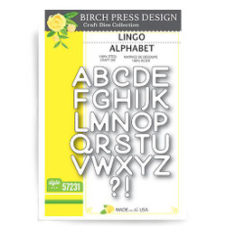 Lingo Alphabet, Birch Press Design Dies -