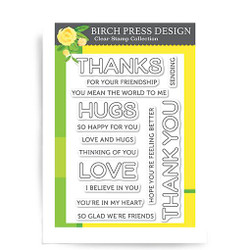 Lingo Thanks, Birch Press Design Clear Stamps -