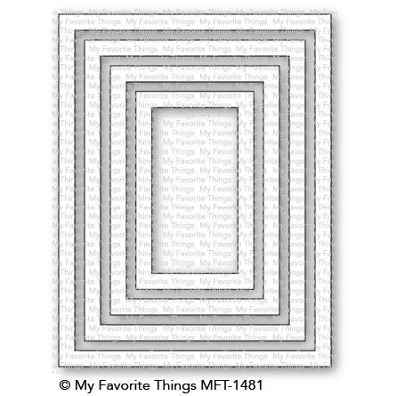 A2 Rectangle Frames, My Favorite Things Die-Namics - 849923030271