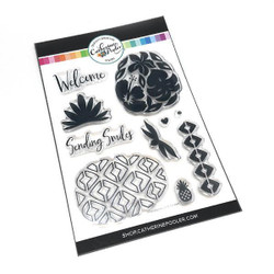 Pineapples & Smiles, Catherine Pooler Clear Stamps - 819447021987