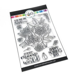One In A Million Mom Floral, Catherine Pooler Clear Stamps - 819447023233