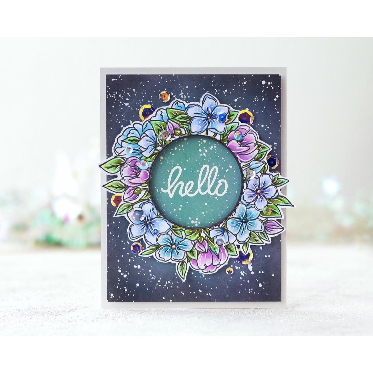 Floral Wreath, Studio Katia Clear Stamps -
