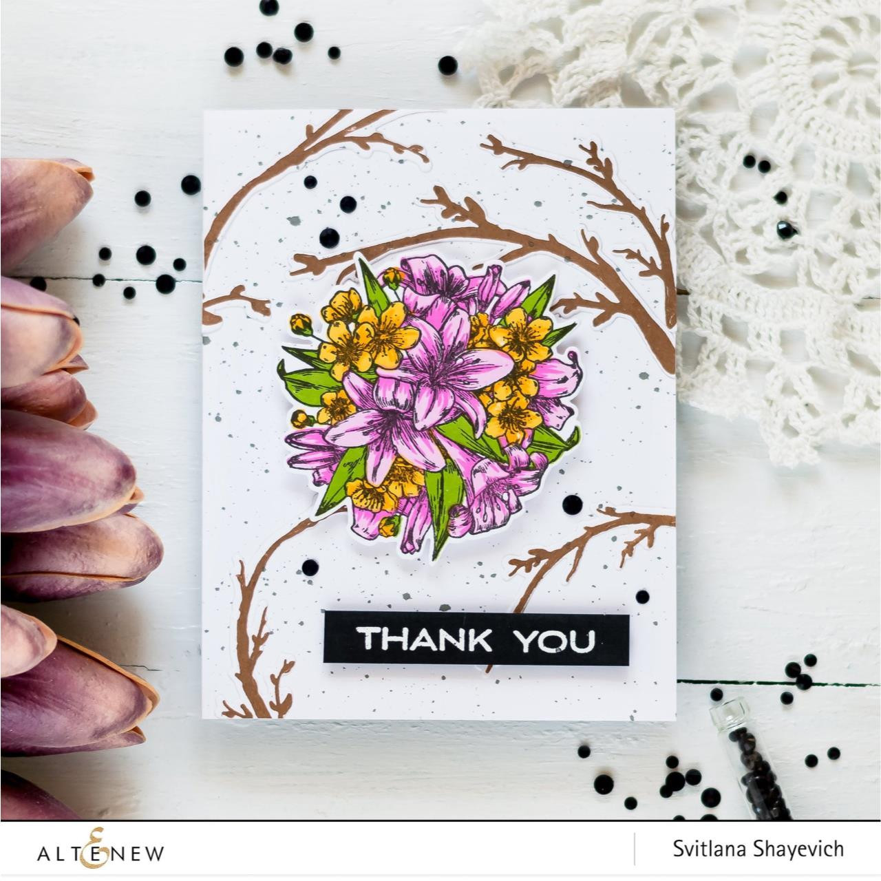 Prettiest Pomander, Altenew Clear Stamps - 704831299434