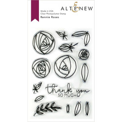 Rennie Roses, Altenew Clear Stamps - 704831299465