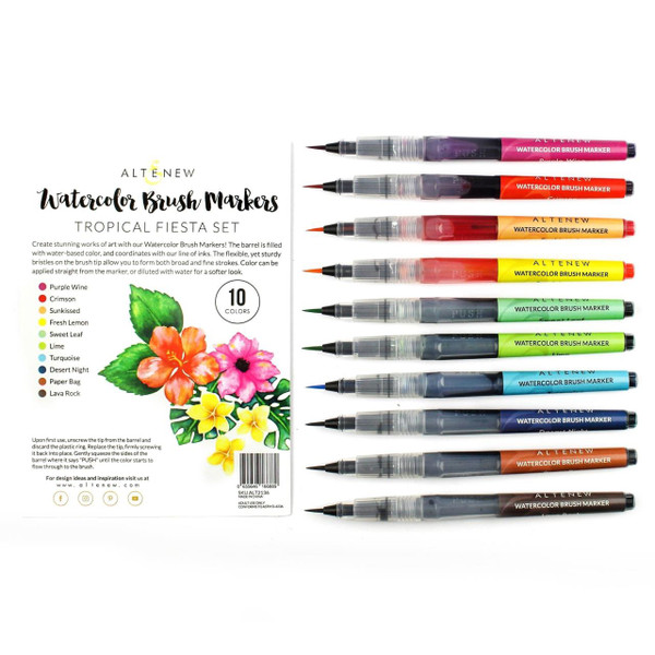Tropical Fiesta Set, Altenew Watercolor Brush Markers - 655646166889