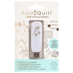 Icons And Words - Foil Quill USB Art, We R Memory Keepers - 633356606888
