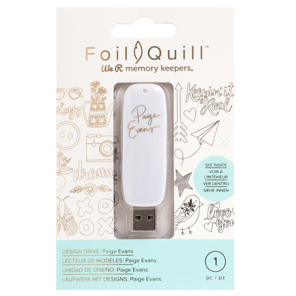 Paige Evans - Foil Quill USB Art, We R Memory Keepers - 633356606901
