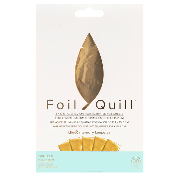 Gold Finch, Foil Quill 4 X 6 Pack of 30, We R Memory Keepers - 633356606673