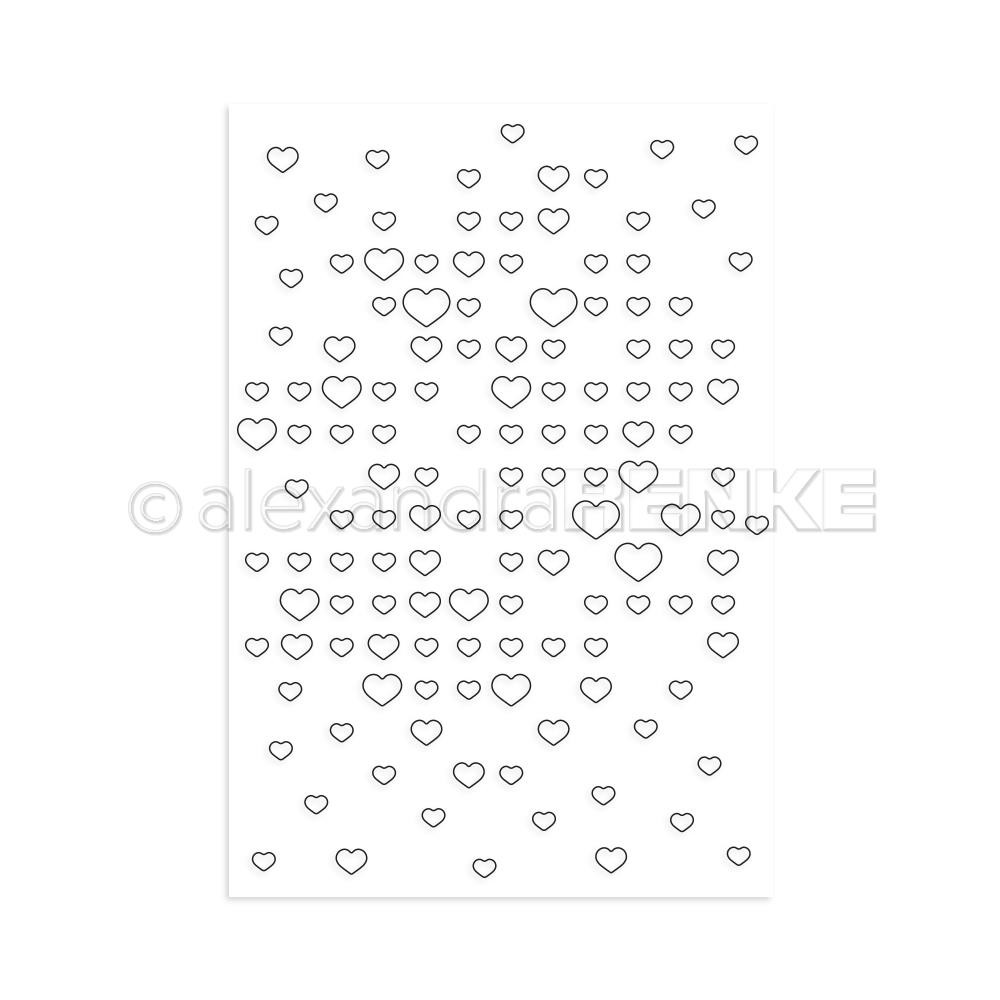 Grid Of Hearts, Alexandra Renke Clear Stamps - 4251412722851