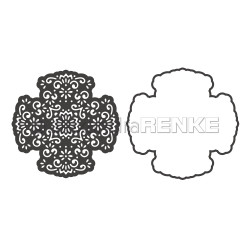 Cross Ornament With Frame, Alexandra Renke Dies - 4251412720871