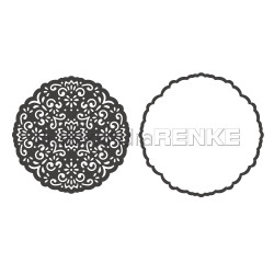 Round Ornament With Frame, Alexandra Renke Dies - 4251412720819