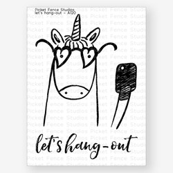 Let's Hang Out, Picket Fence Studios Clear Stamps - 691035246763