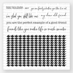 Classic Houndstooth, Picket Fence Studios Clear Stamps - 745557992889