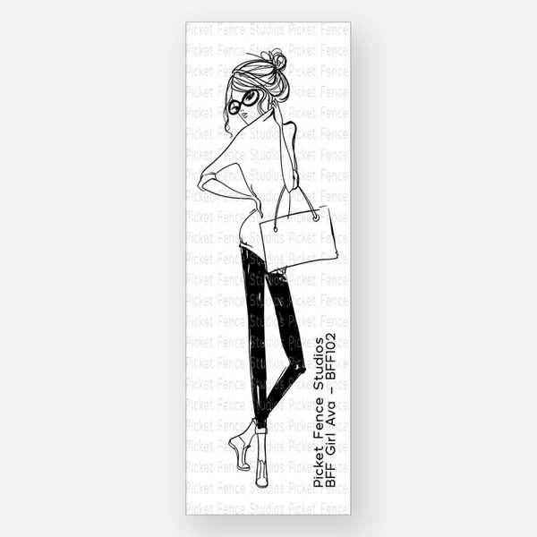 BFF Girl Ava, Picket Fence Studios Clear Stamps - 745557989681
