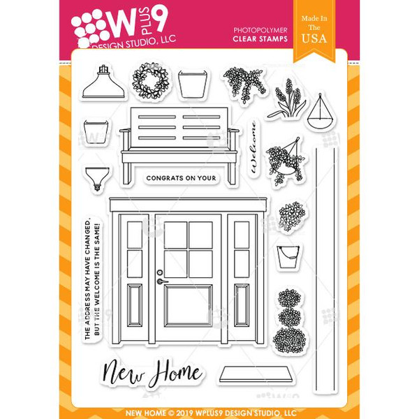 New Home, WPlus9 Design Studio Clear Stamps -