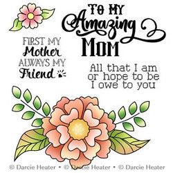 Flower Spray, Darcie's Clear Stamps -