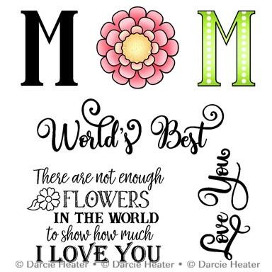 World's Best Mom, Darcie's Clear Stamps -