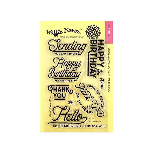 Bold Sentiments, Waffle Flower Clear Stamps - 653341254238