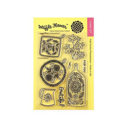 Grateful, Waffle Flower Clear Stamps - 653341254030