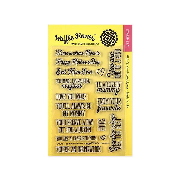 Be Her Sentiments, Waffle Flower Clear Stamps - 653341208538