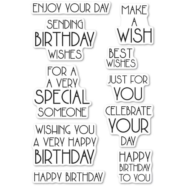 Birthday Blowout, Poppystamps Clear Stamps - 873980794708