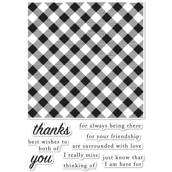 Picnic Plaid, Poppystamps Clear Stamps - 873980794784