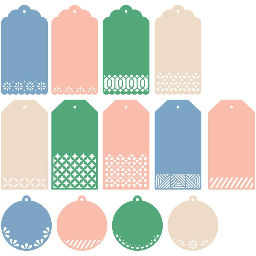 Essentials: Classic Tags With Fillable Elements Set, Pinkfresh Studio Dies - 782150201420