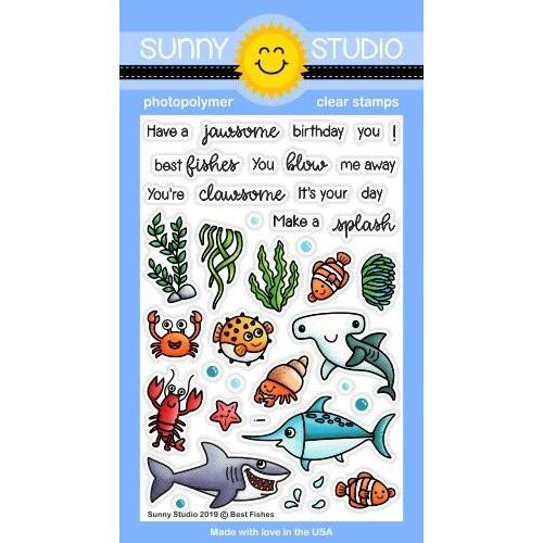 Best Fishes, Sunny Studio Clear Stamps - 797648687228