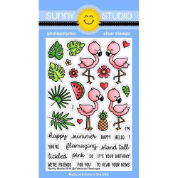 Fabulous Flamingos, Sunny Studio Clear Stamps - 797648687105