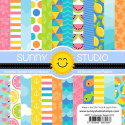 Summer Splash, Sunny Studio 6 X 6 Paper Pad - 797648687068