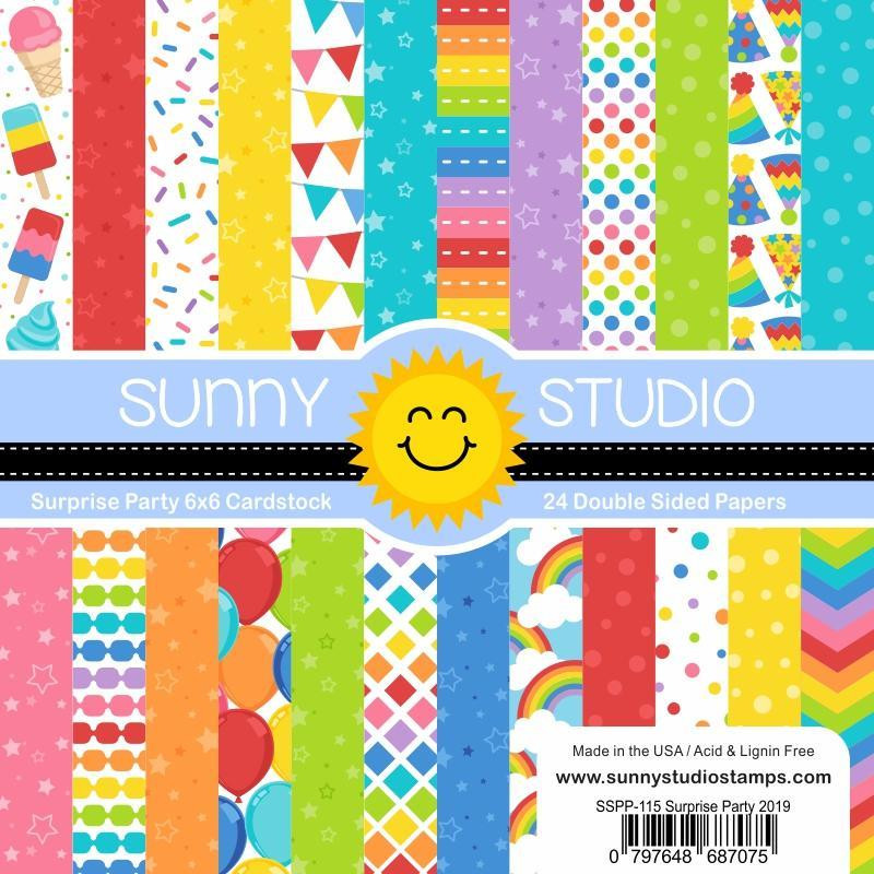Surprise Party, Sunny Studio 6 X 6 Paper Pad - 797648687075