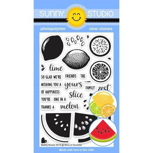 Slice of Summer, Sunny Studio Clear Stamps - 797648687143