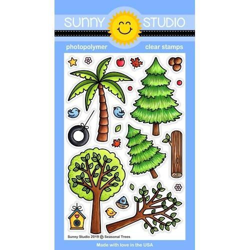 Seasonal Trees, Sunny Studio Clear Stamps - 797648687129