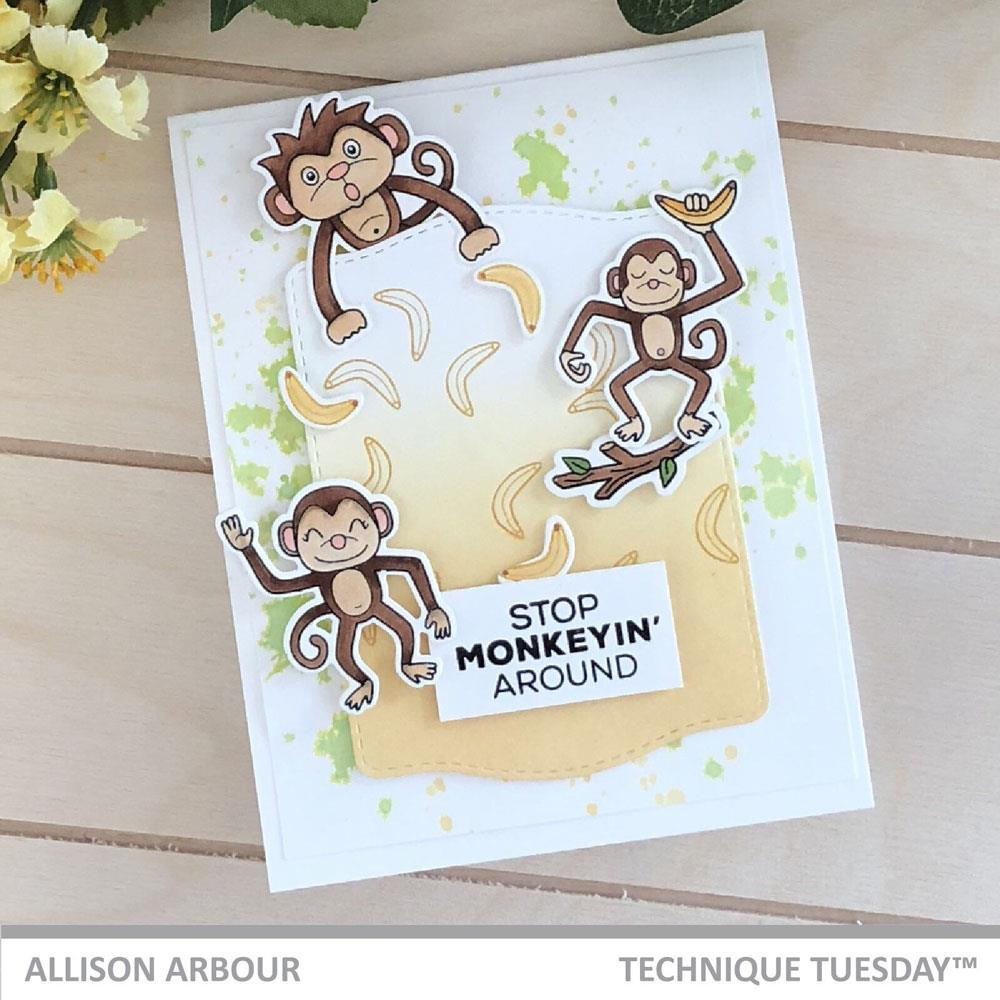 Monkey Business - Animal House April 2019, Technique Tuesday Clear Stamps - 811784027752