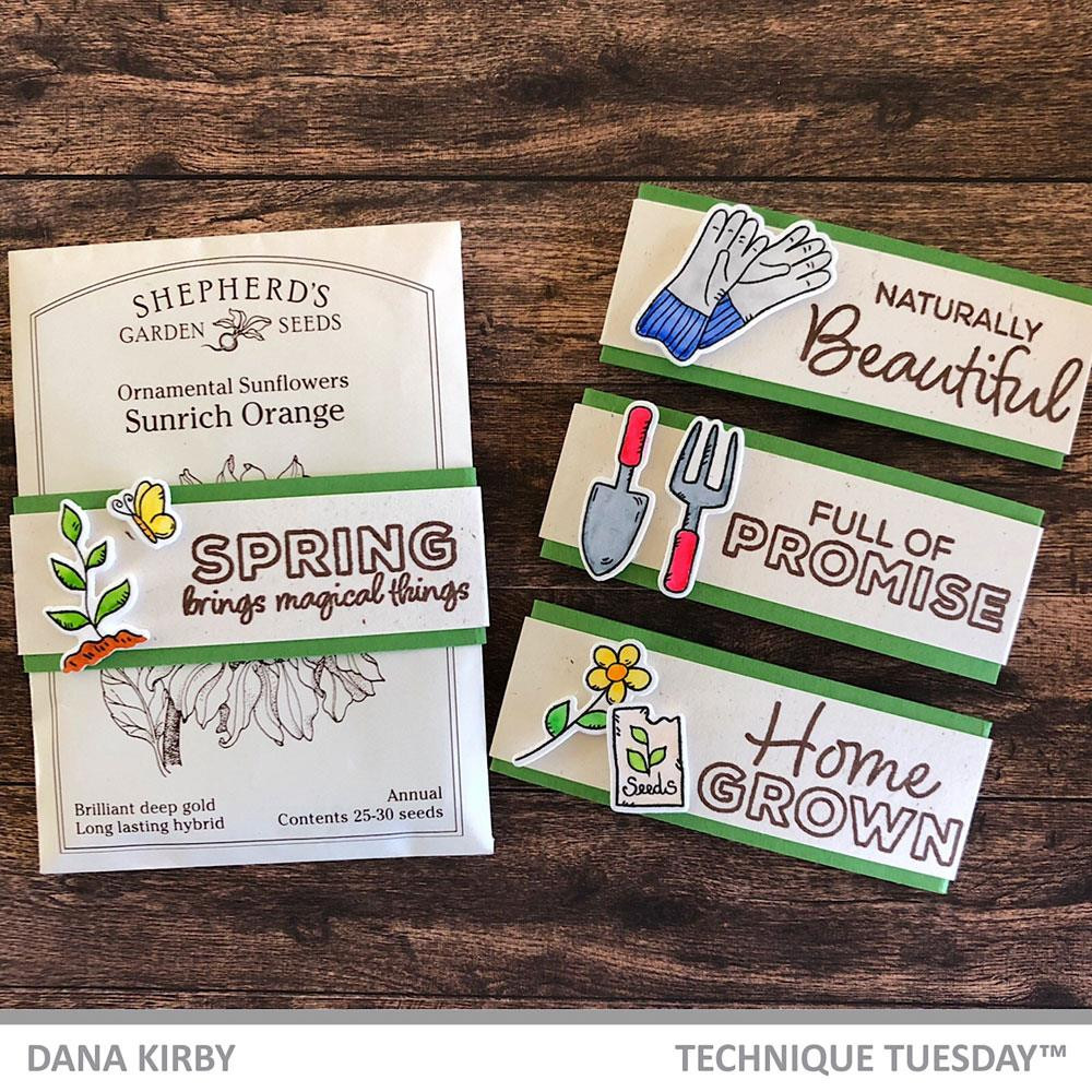 Growing Garden, Technique Tuesday Clear Stamps - 811784027714