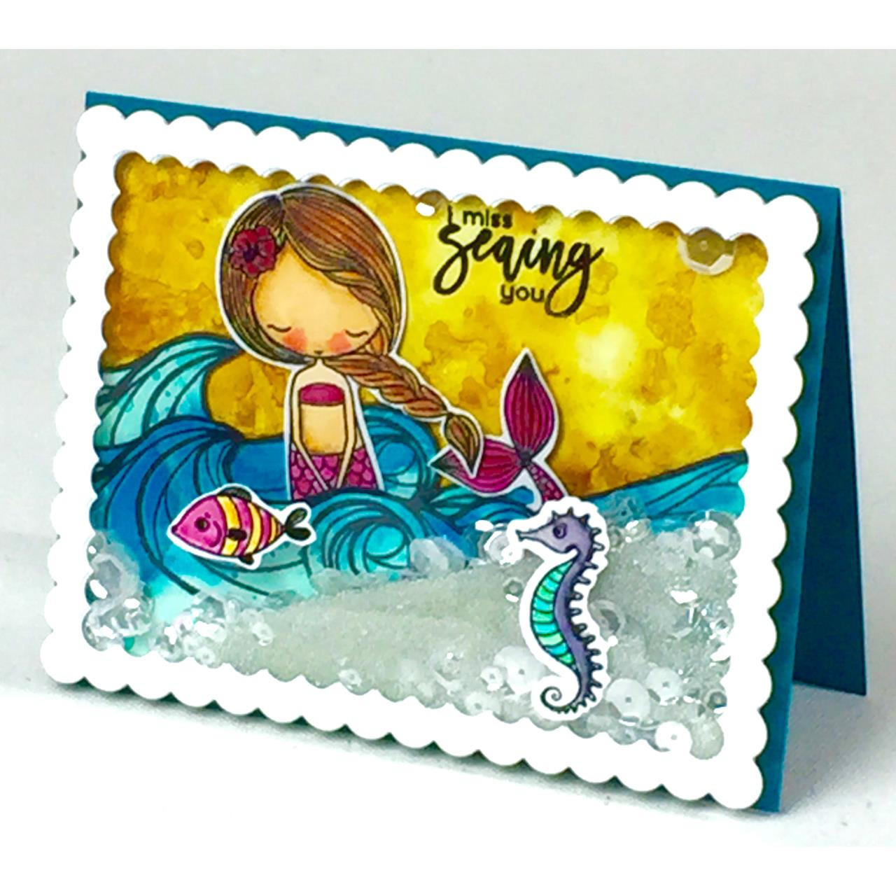 Little Coral Girl, Picket Fence Studios Clear Stamps - 691035248491