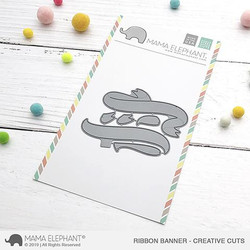 Ribbon Banner, Mama Elephant Creative Cuts -