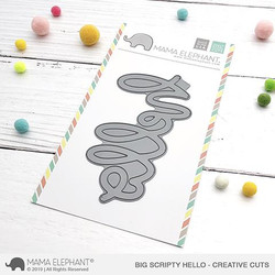 Big Scripty Hello, Mama Elephant Creative Cuts (Retiring) -