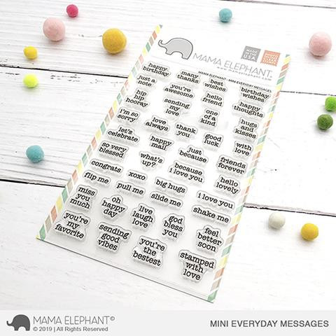 Mini Everyday Messages, Mama Elephant Clear Stamps -