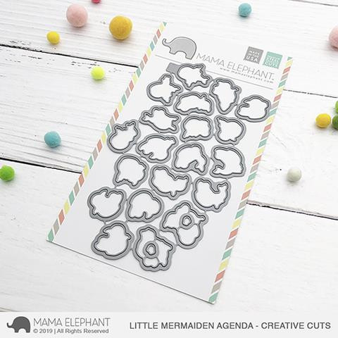 Little Mermaiden Agenda, Mama Elephant Creative Cuts -