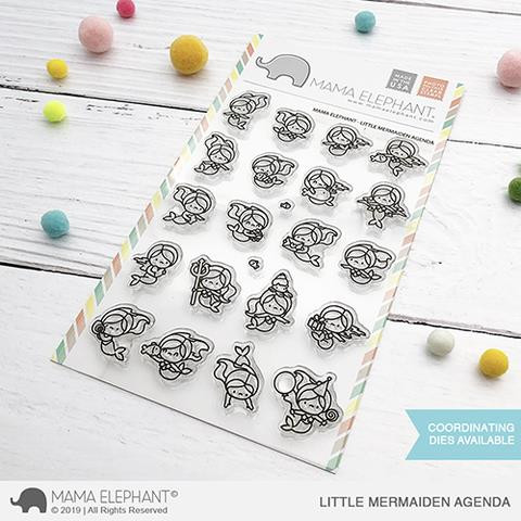 Little Mermaiden Agenda, Mama Elephant Clear Stamps -